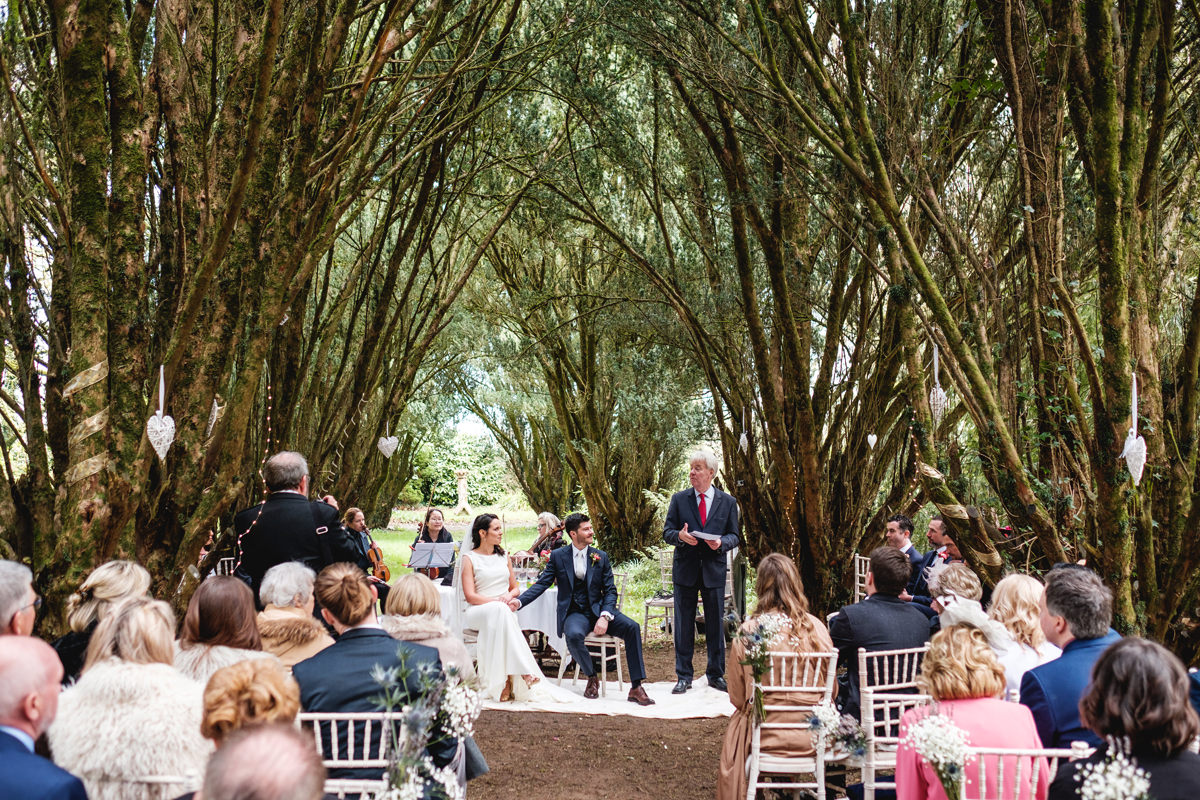 Outdoor wedding at Lisnavagh house