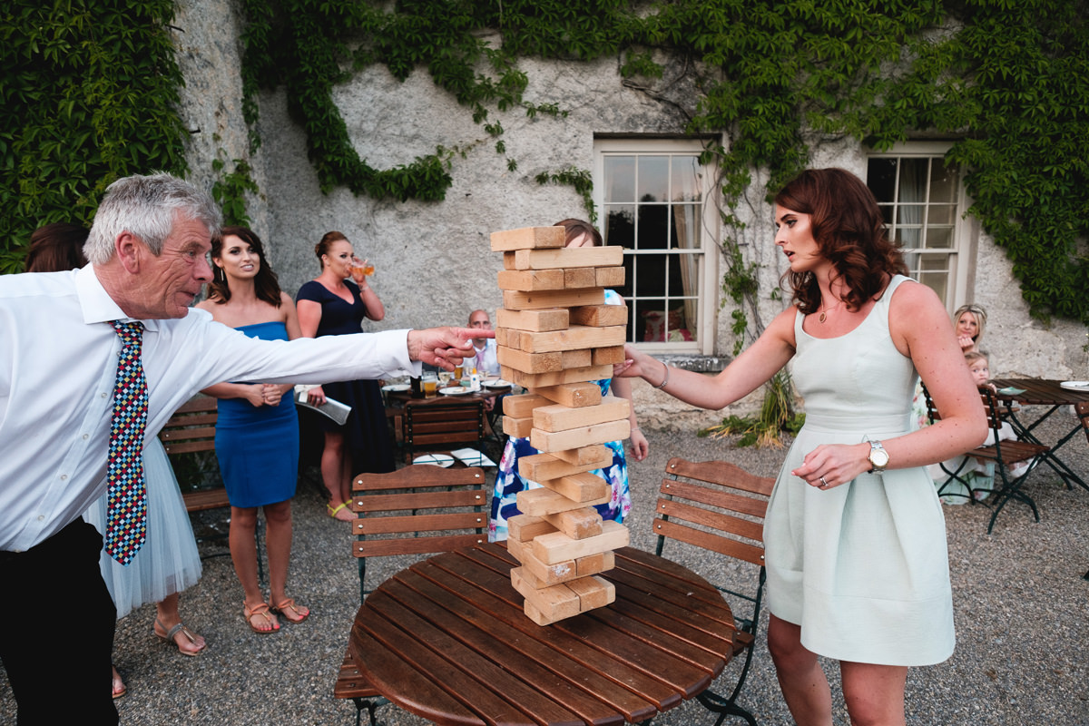 summer eveing light at cloughjordan house wedding