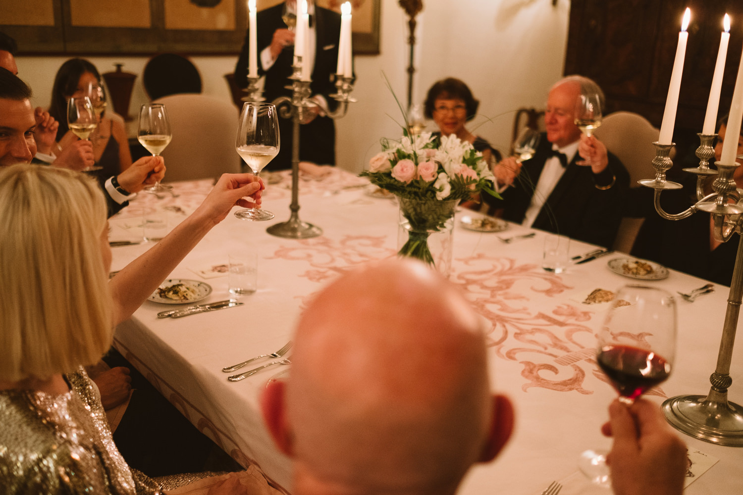 evening meal at venice wedding by david mcclelland