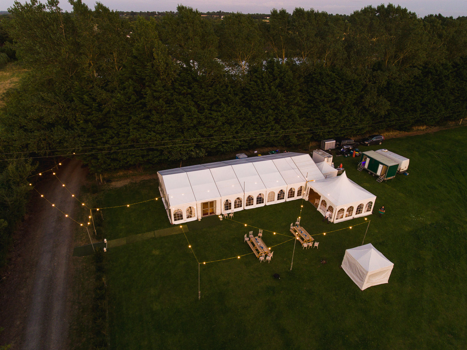 christmas tree farm marquee wedding outdoor festival