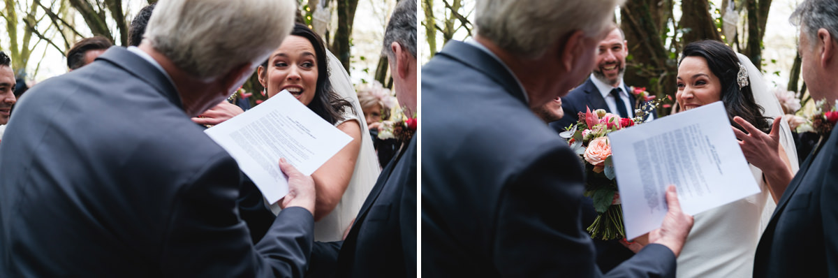 outdoor wedding in a forest in ireland