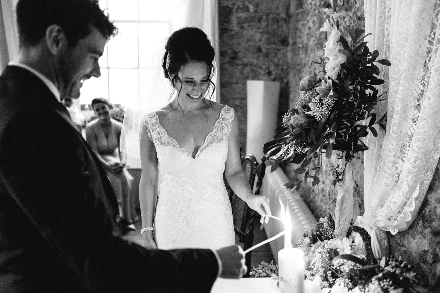 wedding in the stone hall at cloughjordan