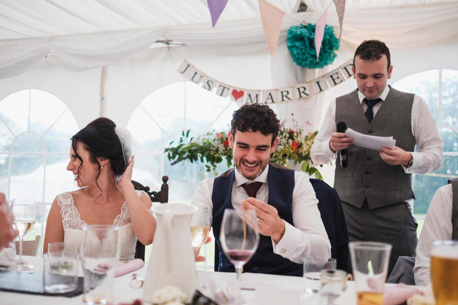 wedding speeches at cloughjordan country house photographs