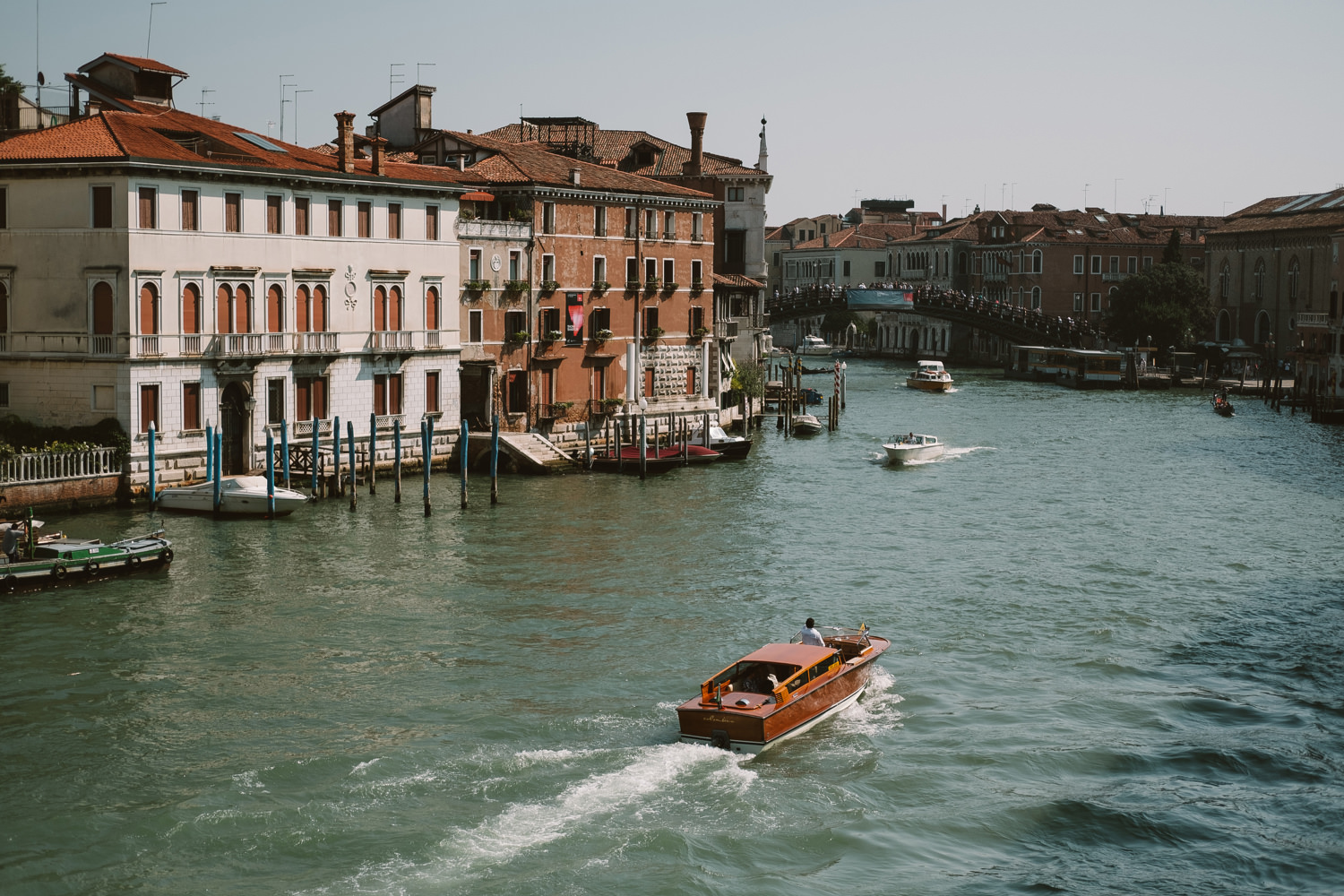 watertaxi on venice waterway
