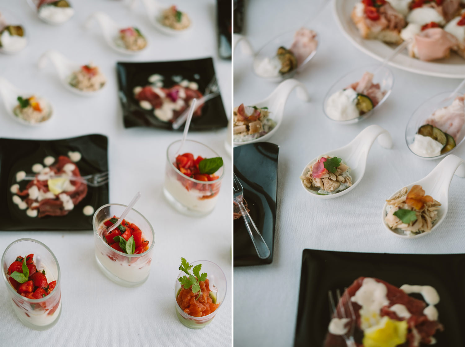 canapes at venice wedding