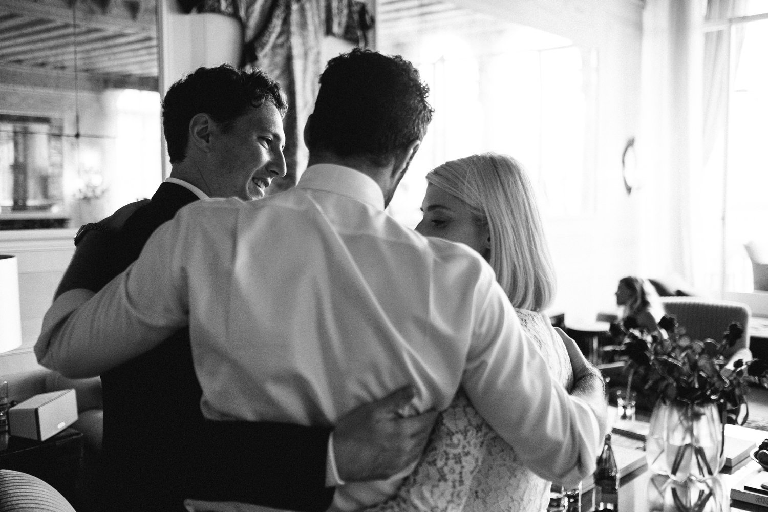 candid destination wedding photography cocktail hour by david mc