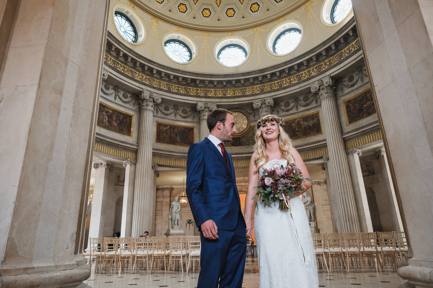 dublin city natural wedding photography unposed