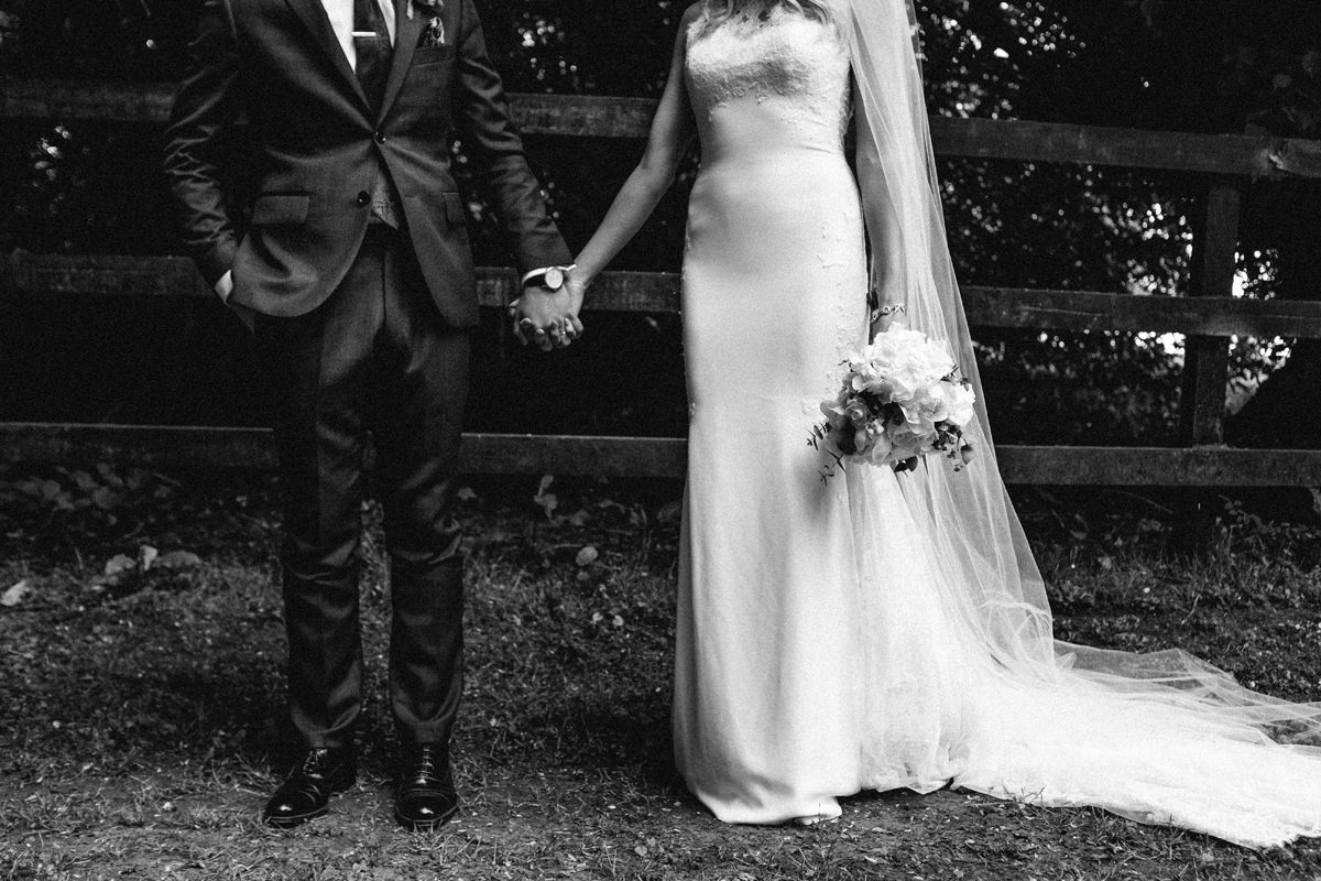 cool bride and groom wedding photographs